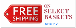 free shipping on select wine baskets