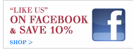 like us and save 10% on facebook