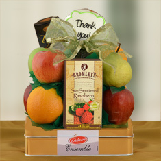 Appreciation Fruit & Cookie Gift Basket