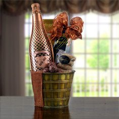 Wedded Bliss Champagne Gift Basket
