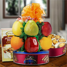 Cookie Carnival & Fresh Fruit Gift Basket