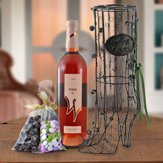 Cute Boot Cork Cage & Wine Gift Basket