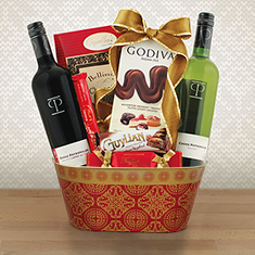 Double Treasures Wine Gift Basket