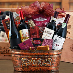 European Wine Collection Gift Basket