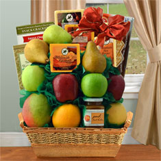 Fruit & Cheese Bonanza Gift Basket
