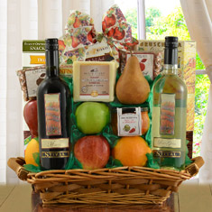 Fruit, Cheese & Columbia-Crest Wines