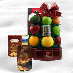 Fruit & Cookie Bonanza Gift Basket