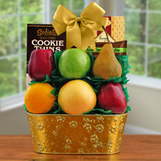 Golden Harvest Fruit Gift Basket