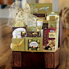 Gourmet Treasure Chest Gift Basket