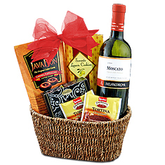 Moscato Memories Wine Gift Basket