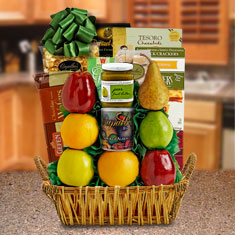 Mount Sinai Fruit & Kosher Food Gift Basket
