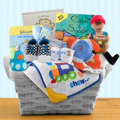 Pampered Boy Gift Basket