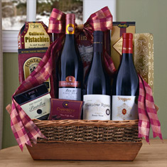 Pinot Noir Triple Wine Gift Basket