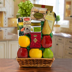 Sea of Galilee Fruit & Kosher Food Gift Basket