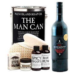 The Man Can Spa & Red Wine Gift Collection