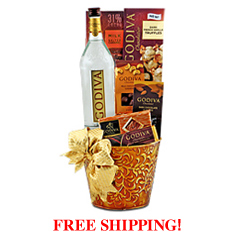 Totally Godiva Vodka & Chocolate Gift Basket