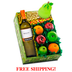 Moscato White Wine & Fruit Gift Box