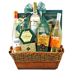 White Wine Trio Gift Basket