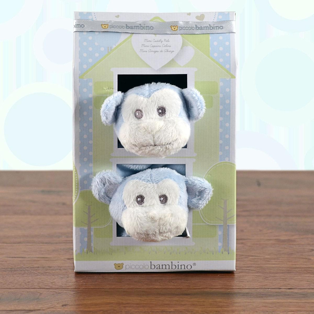 Mini Cuddly Pals Monkey Blankies Gift Set