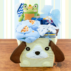 Baby Boy's First Wardrobe Gift Basket