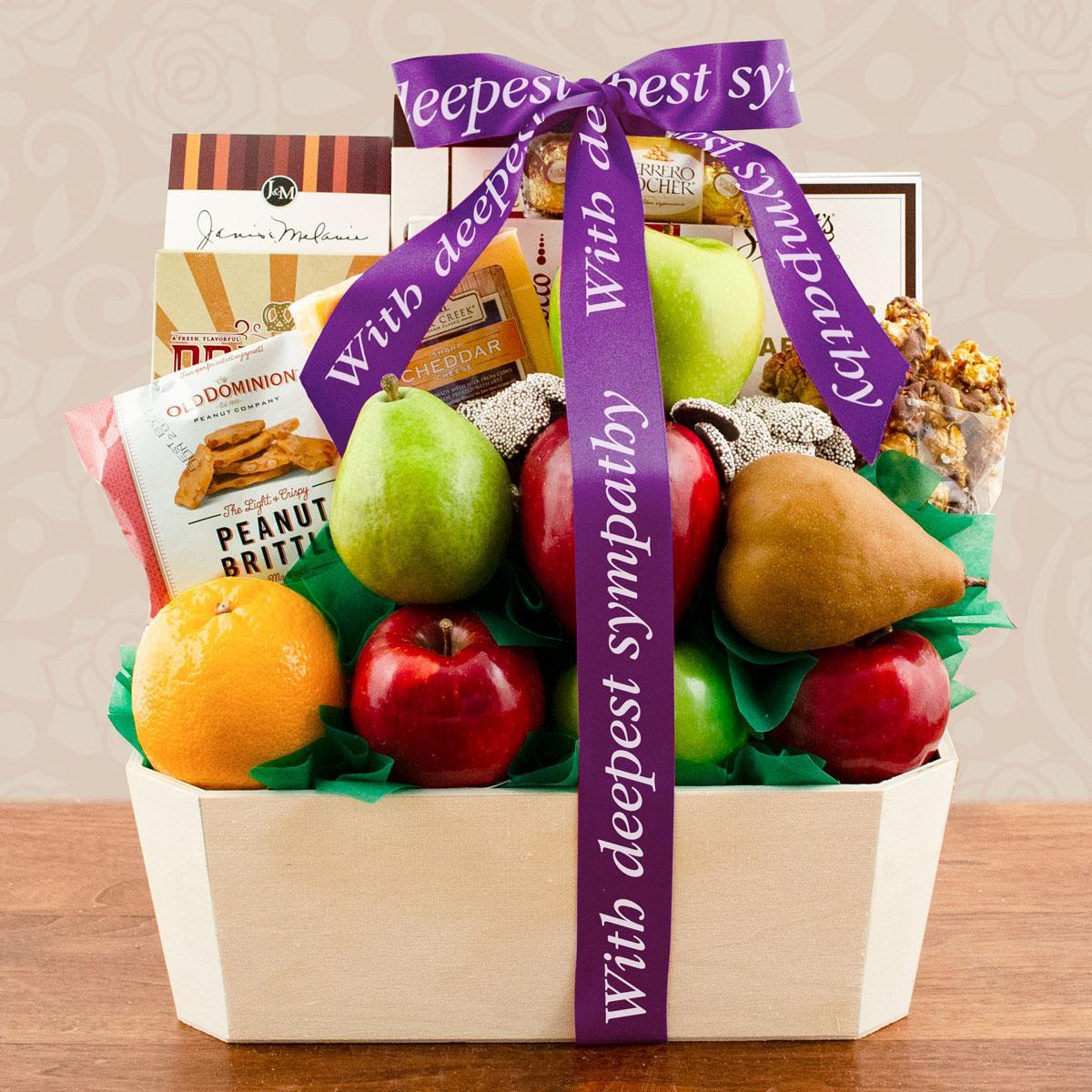 Capalbos Orchard Fruit Gift Basket - Sympathy