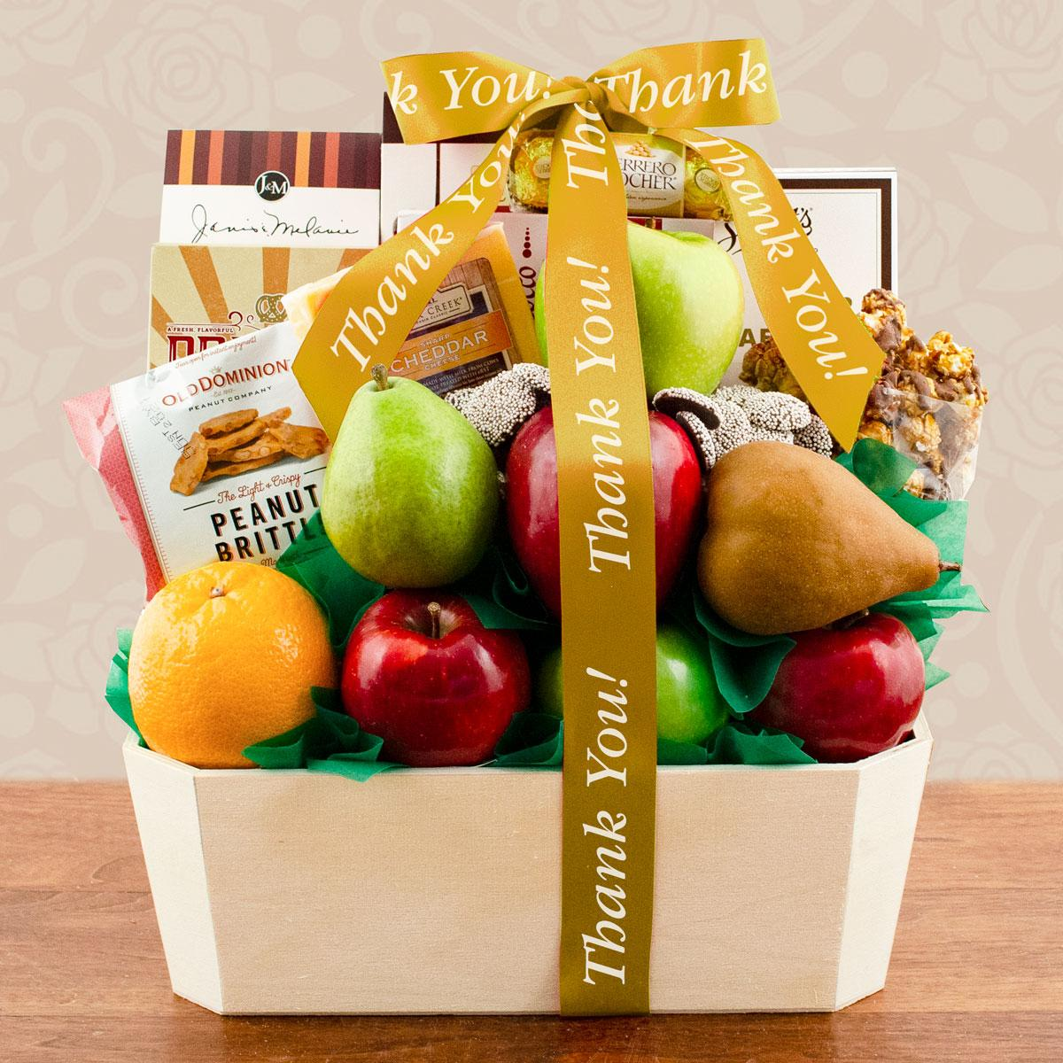Capalbos Orchard Fruit Gift Basket - Thank You