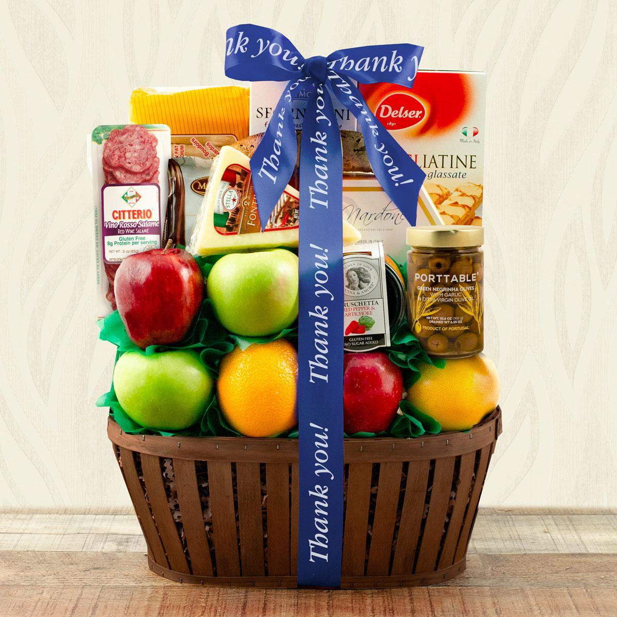 Capalbos Firenze Fruit Gift Basket - Thank You