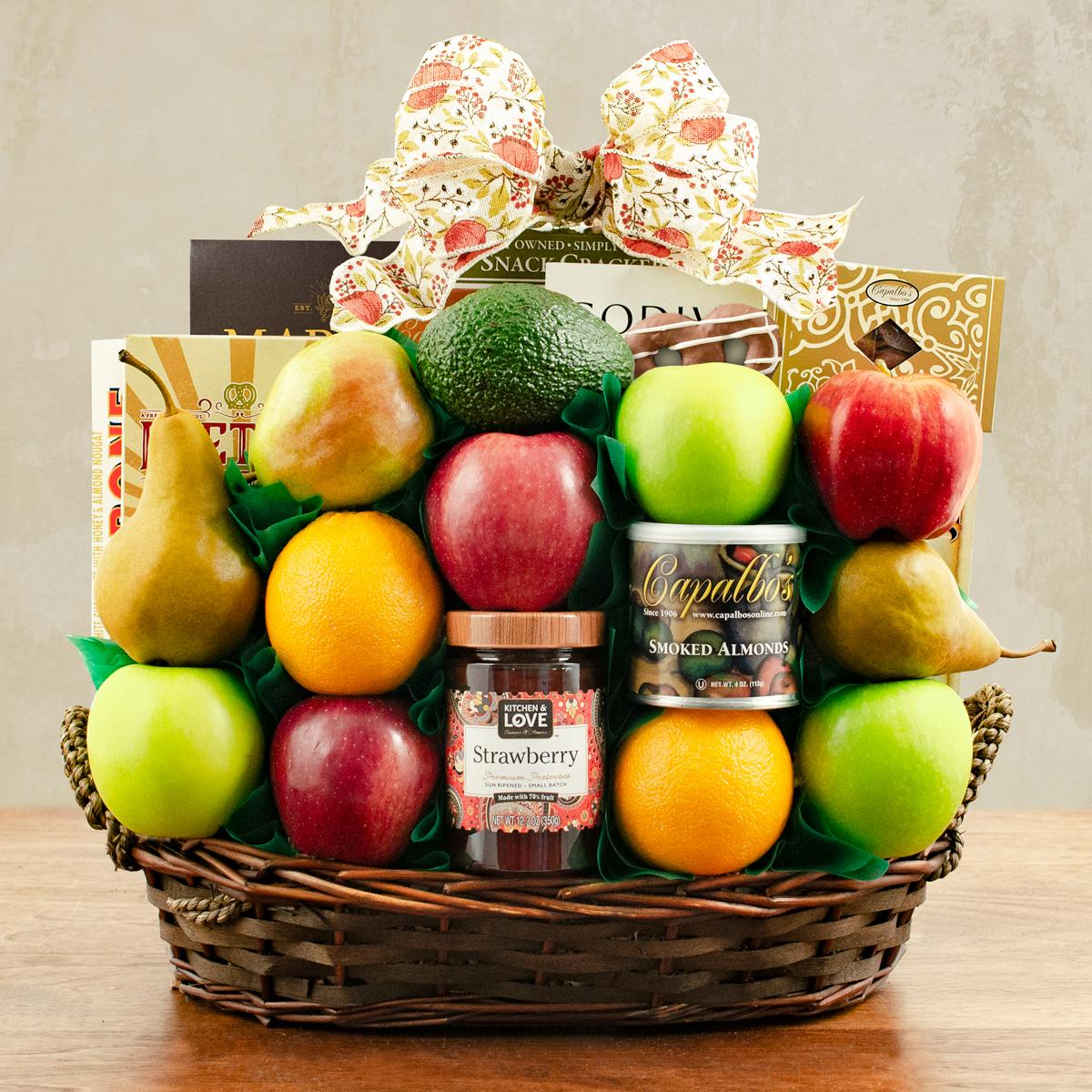 Capalbos Masada Fruit and Kosher Food Gift Basket