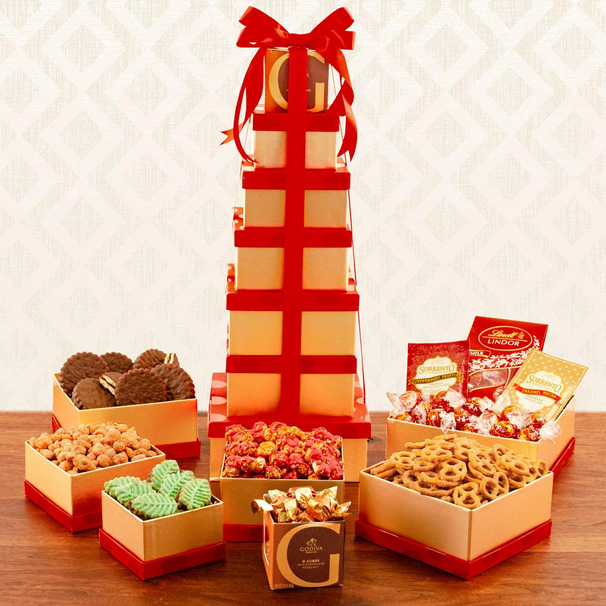 Capalbos Deluxe Holiday Snack Tower Gift Set