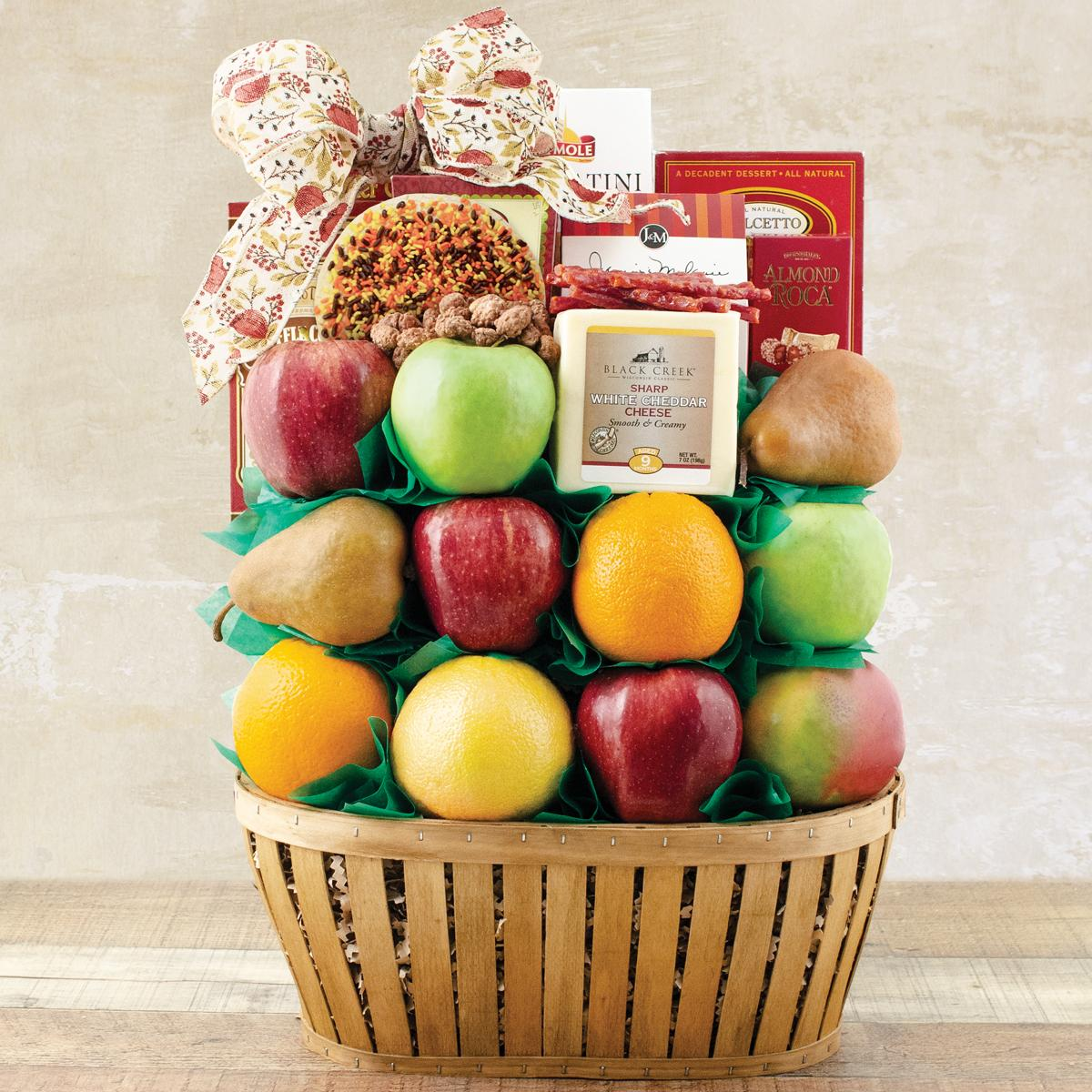 Capalbos Thanksgiving Talk Of The Town Fruit Gift Basket